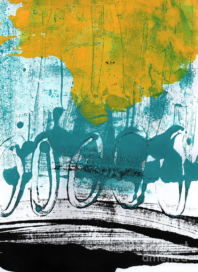 Abstract Painting Painting - Morning Ride by Linda Woods