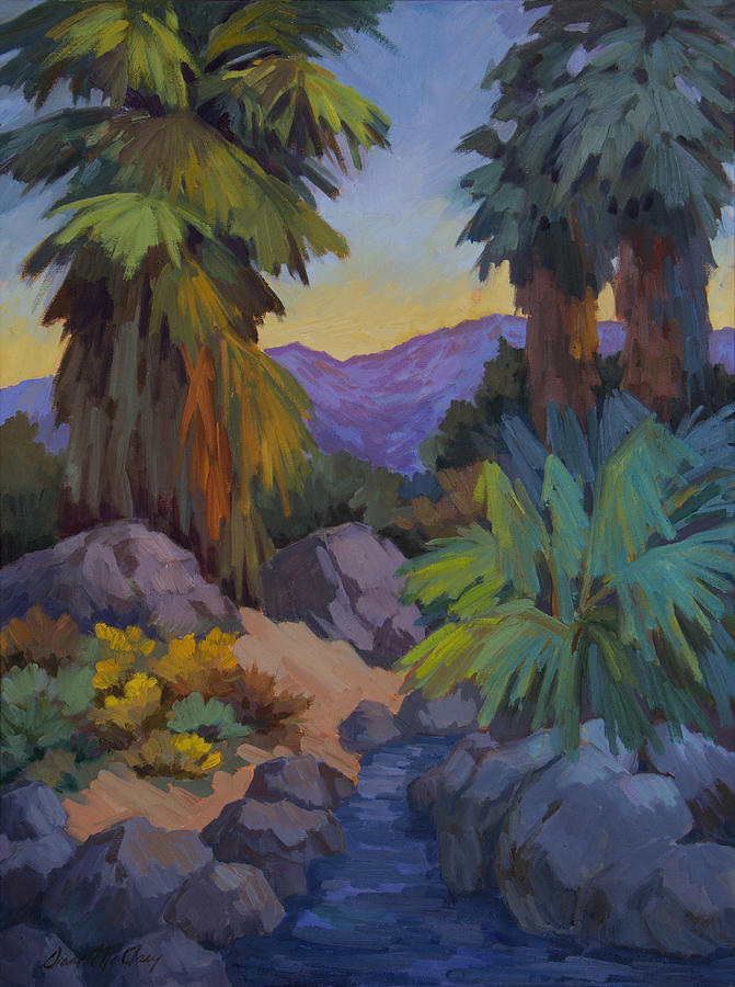Desert Painting - Morning Shade 2 by Diane McClary