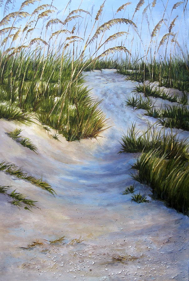 Beach Painting - Morning Shadows by Mary McCullah