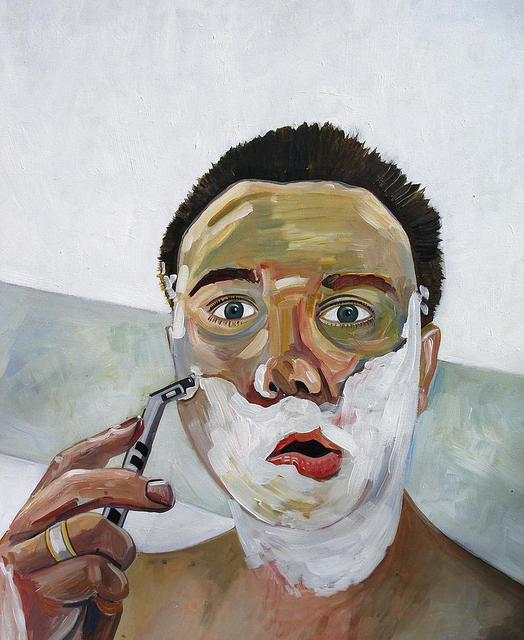 Morning Shave Painting by Rob Sweeney