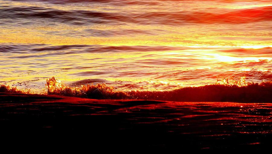 Seascapes Photograph - Morning Splash by Karen Wiles
