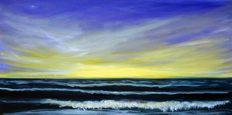 Morning Star and the Sea Oceanscape by Katy Hawk
