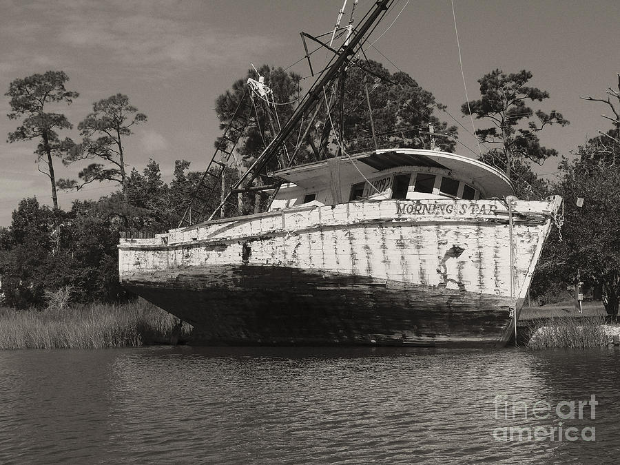 Shrimp Boat Photograph - Morning Star by Russell Christie