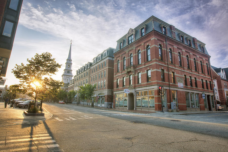 Congress Street Photograph - Morning Stroll by Eric Gendron