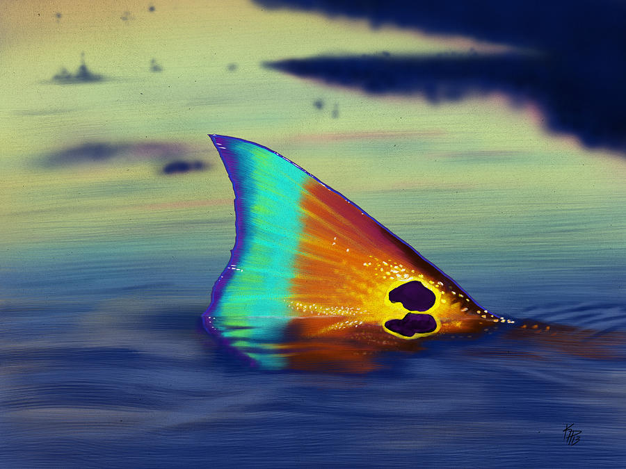 Redfish Digital Art - Morning Stroll by Kevin Putman