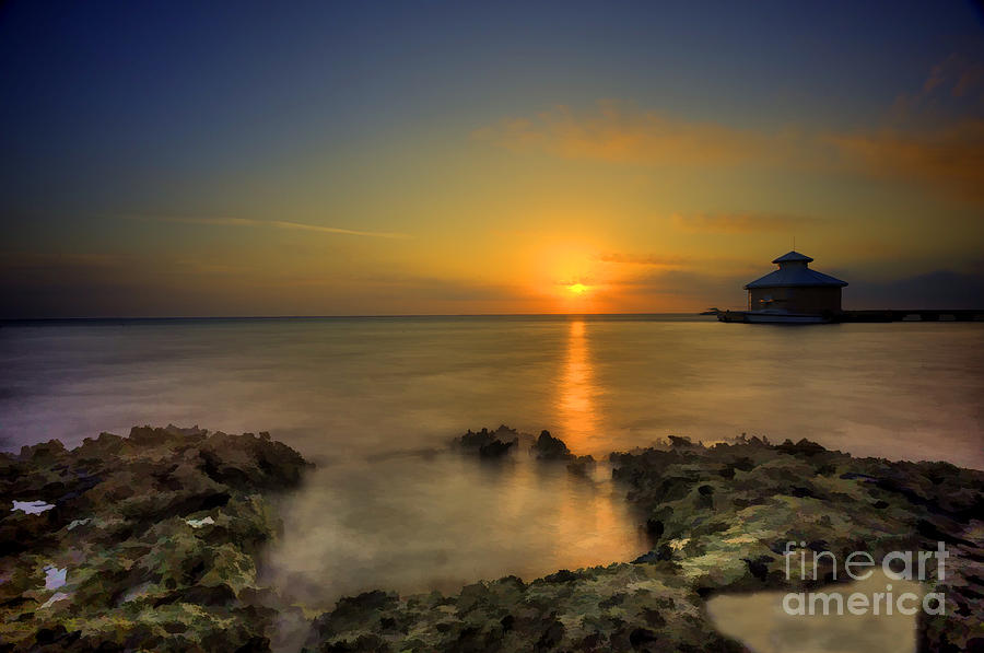 Morning Sun Photograph - Morning Sun Rising In The Grand Caymans by Dan Friend