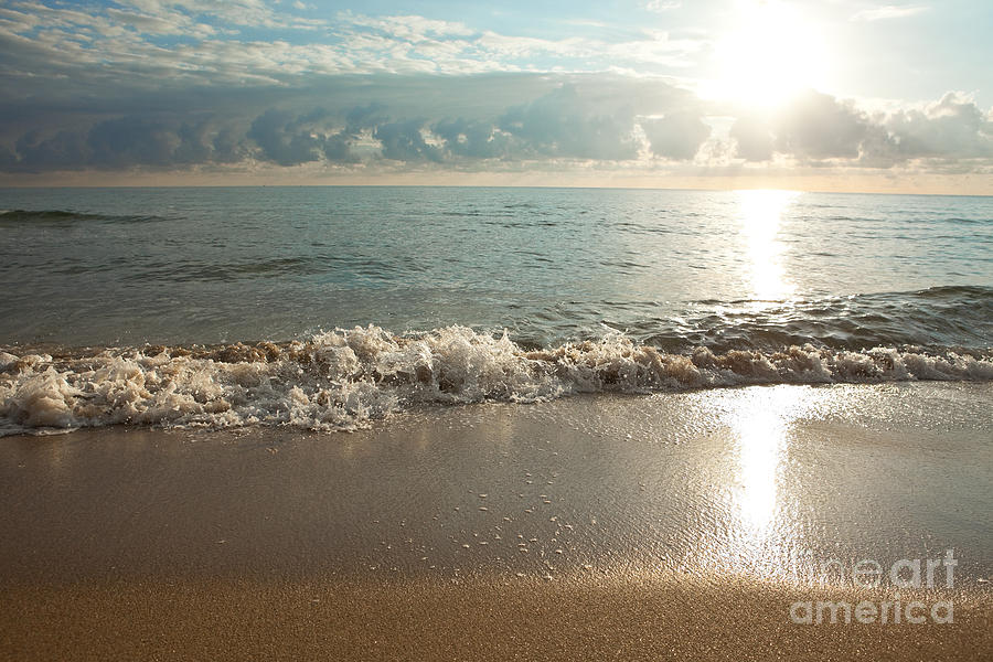Ocean Photograph - Morning Sunrise In Ft. Lauderdale by Sharon Dominick