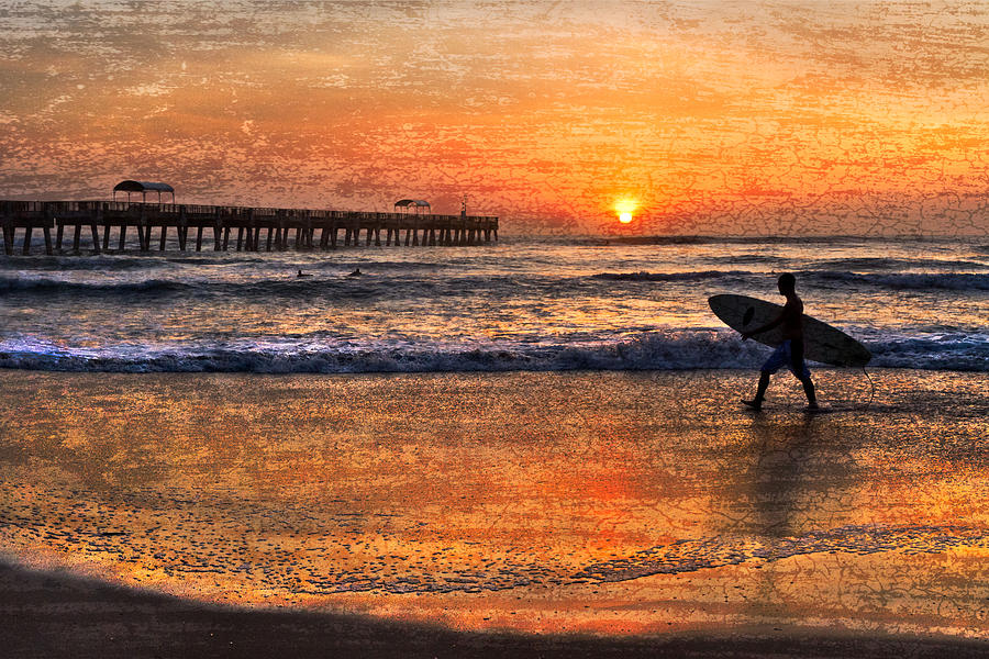 Benny's Photograph - Morning Surf by Debra and Dave Vanderlaan