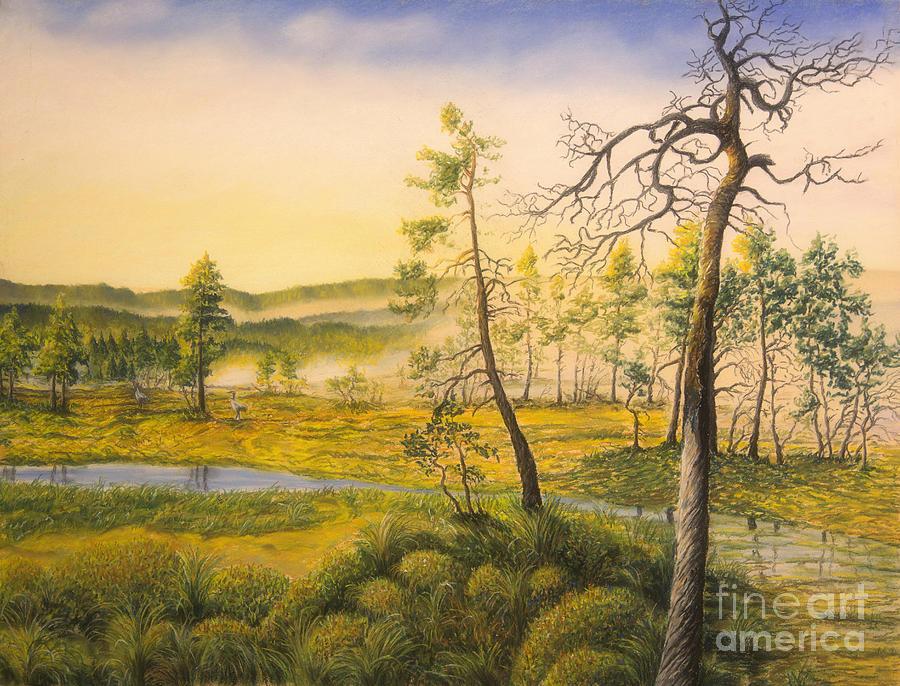 Art Pastel - Morning Swamp by Veikko Suikkanen