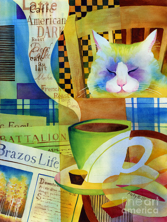 Newspaper Painting - Morning Table by Hailey E Herrera