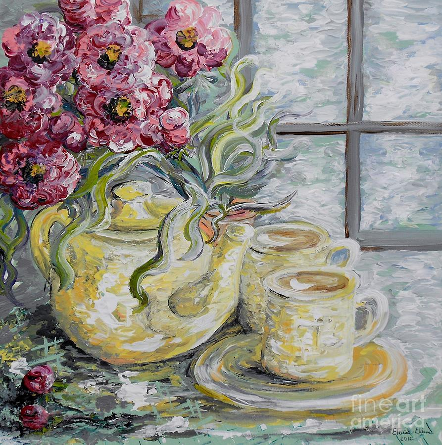 Flowers Painting - Morning Tea For Two by Eloise Schneider