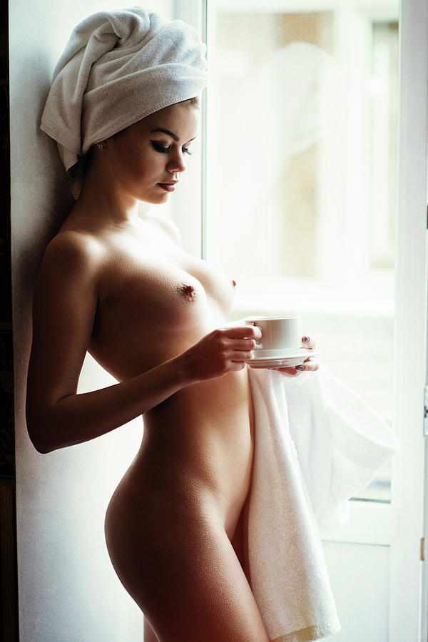 Fine Art Nude Photograph - Morning Tea by Gene Oryx