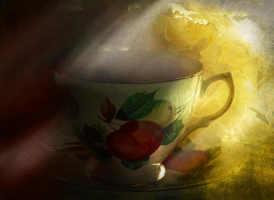 Morning Tea With Peony Photograph