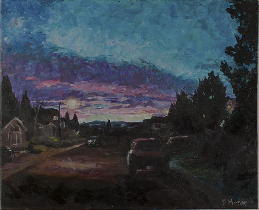 Dawn Painting - Morning Too by Susan Moore