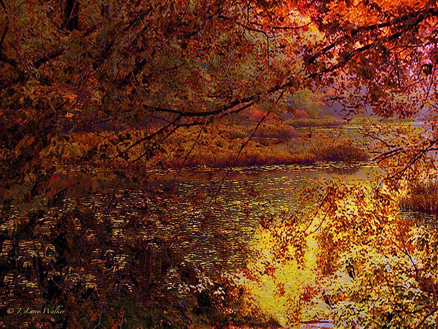 Sunrise Digital Art - Morning Tranquility by J Larry Walker