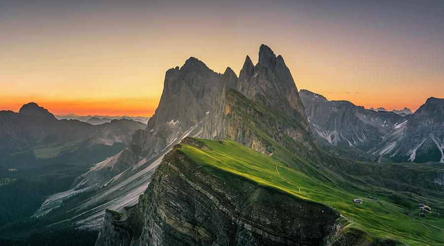 Morning Twilight At Secede, Italy Photograph by Chalermkiat Seedokmai
