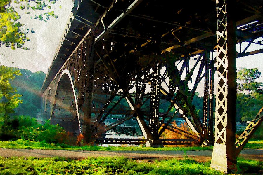 Bridge Photograph - Morning Under The Bridge by Alice Gipson