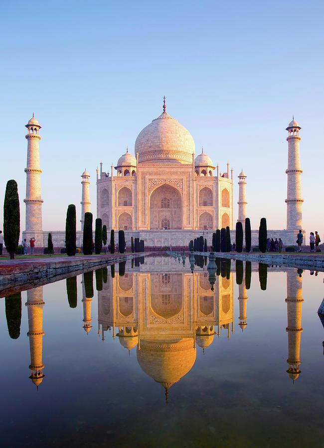 Morning View Of Taj Mahal Photograph by Grant Faint