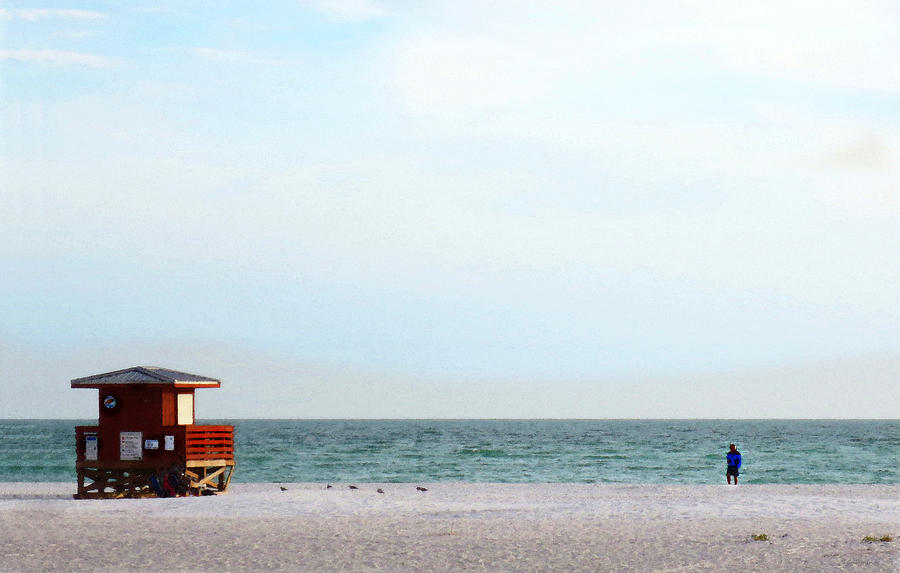 Coastal Painting - Morning Walk By Sharon Cummings by Sharon Cummings