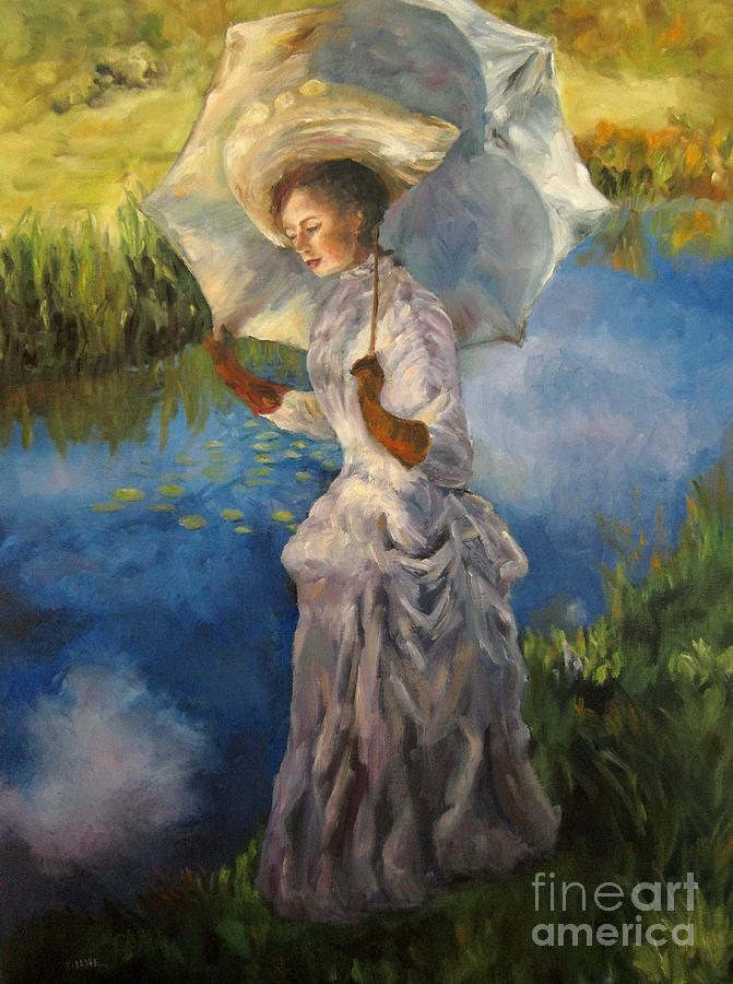Victorian Painting - Morning Walk by Diane Kraudelt