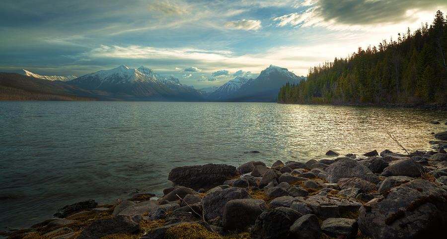 Water Photograph - Mornings At Lake Mcdonald by Stuart Deacon