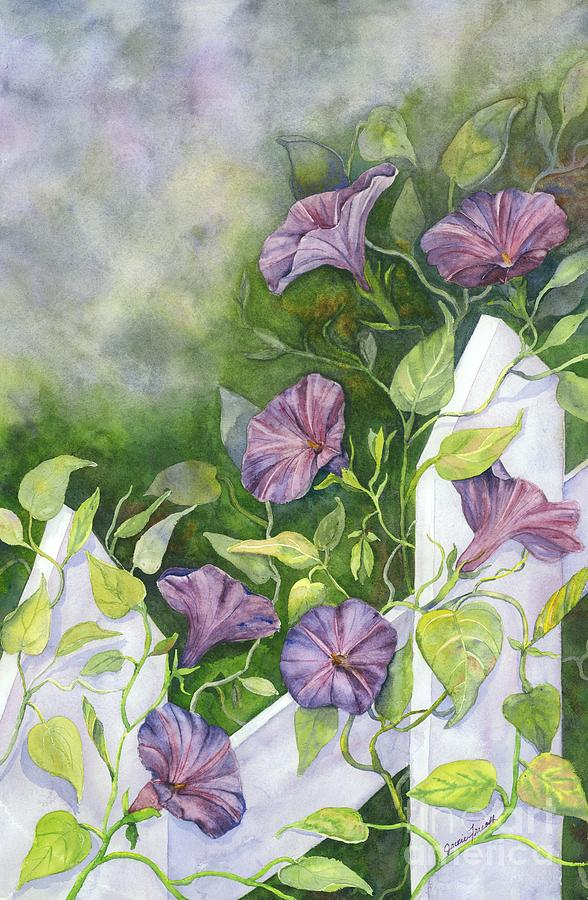 Morning Glory Painting - Mornings Glory by Jackie Friesth
