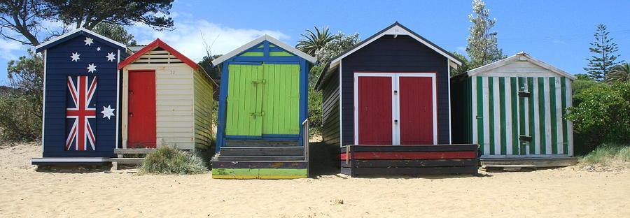 Beach Photograph - Mornington Beachboxes by Rachael Curry