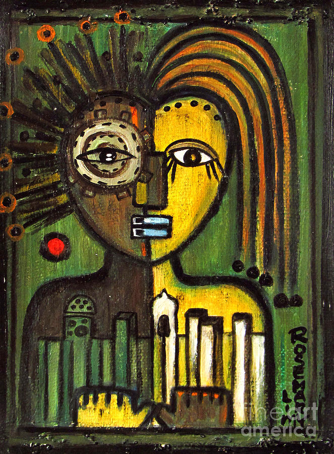 Moroccan City Lovers - African Tribal Mask Painting by ...
