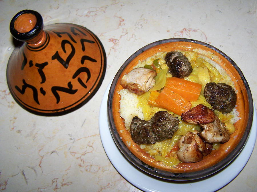 Moroccan Food Photograph - Moroccan Tajine by Noreen HaCohen