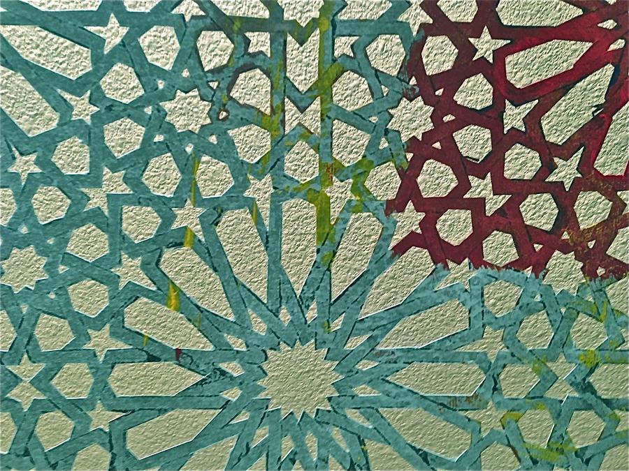 Moroccan Design Mixed Media - Moroccan Tile Design by Karim Baziou