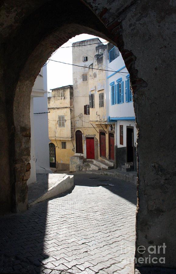 Tangiers Photograph - Morocco Door Light by Joe Fantauzzi