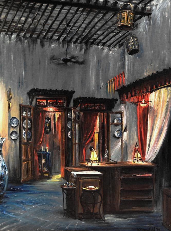 Epcot Painting - Morocco Epcot by Karen Strangfeld