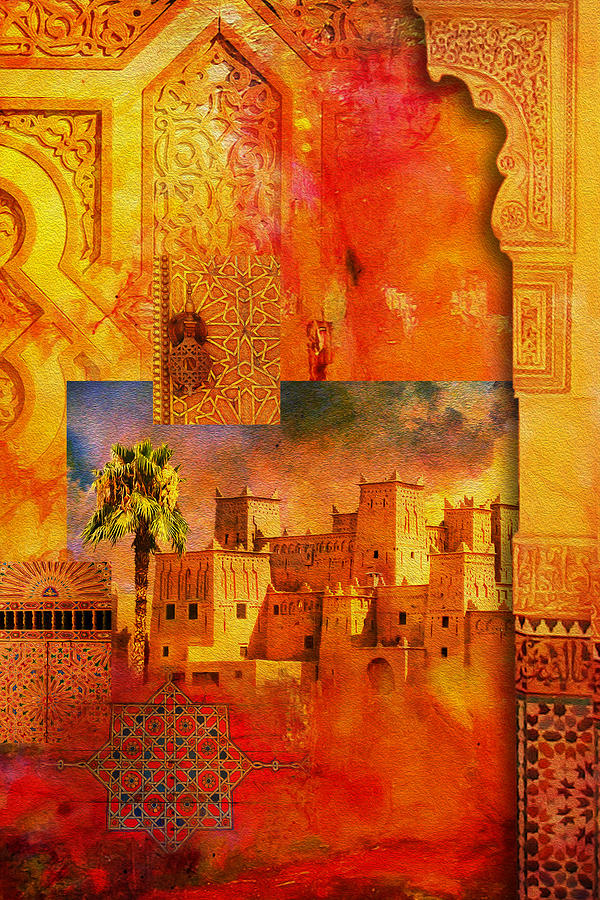 Morocco Heritage Poster 00 Painting by Catf