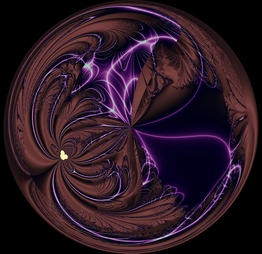 Decoration Digital Art - Morphed Art Globe 39 by Rhonda Barrett