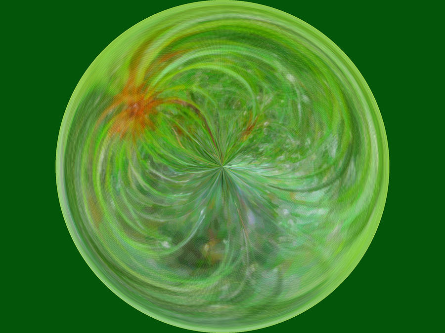 Photo Photograph - Morphed Art Globe 5 by Rhonda Barrett