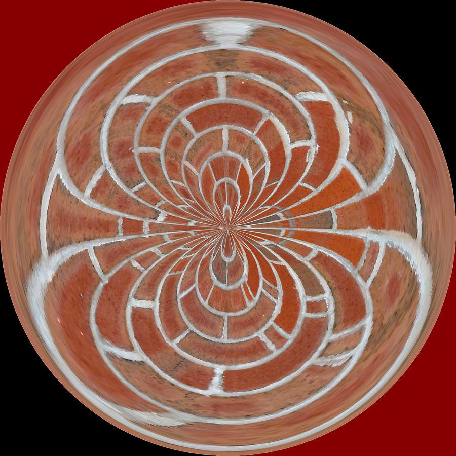 Photograph - Morphed Art Globes 17 by Rhonda Barrett