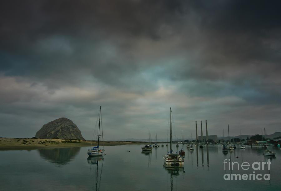Morro Bay Glass Art - Morro Bay by Mitch Shindelbower