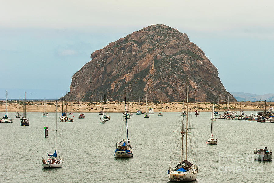 Morro Bay Rock Photograph - Morro Bay Rock At Dawn by Artist and Photographer Laura Wrede