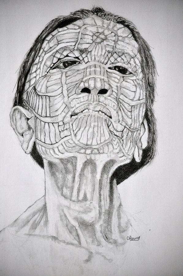 Morro Drawing - Morro Old Woman by Glenn Calloway