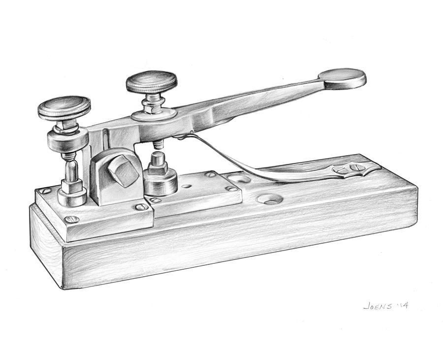 Morse Telegraph Drawing by Greg Joens
