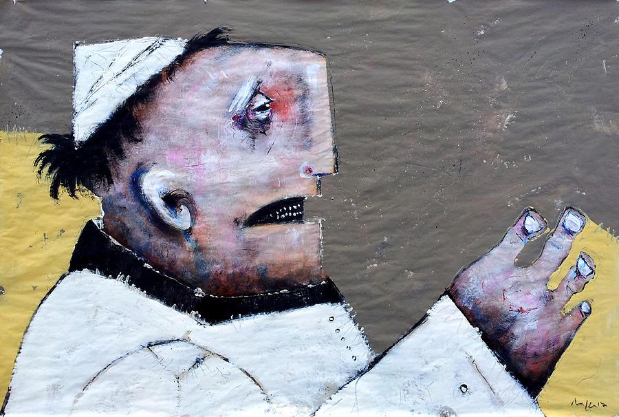 Paper Painting - Mortalis No. 14 by Mark M  Mellon