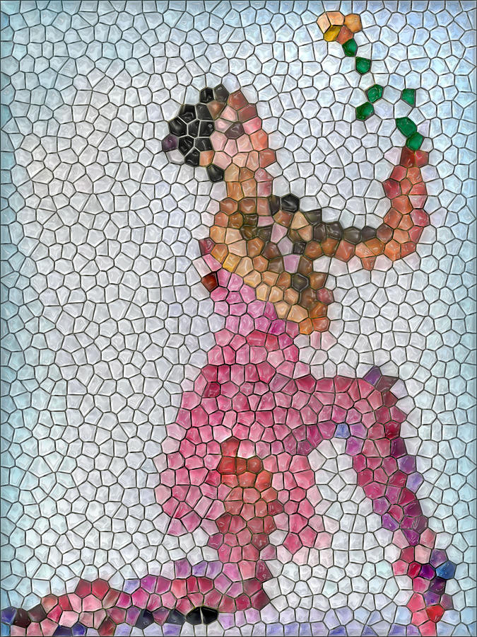 Mosaics Mixed Media - Mosaic Ballerina by Nina Bradica