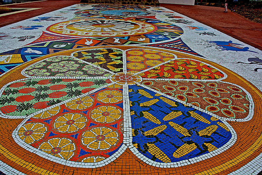 South Africa Photograph - Mosaic Closeup in Donkin Reserve in Port Elizabeth-South Africa by Ruth Hager