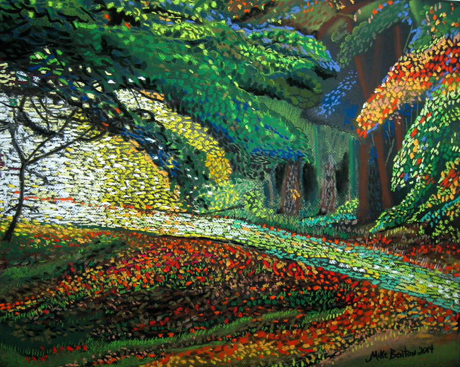 Mosaic Nature Walk Pastel By Mike Benton