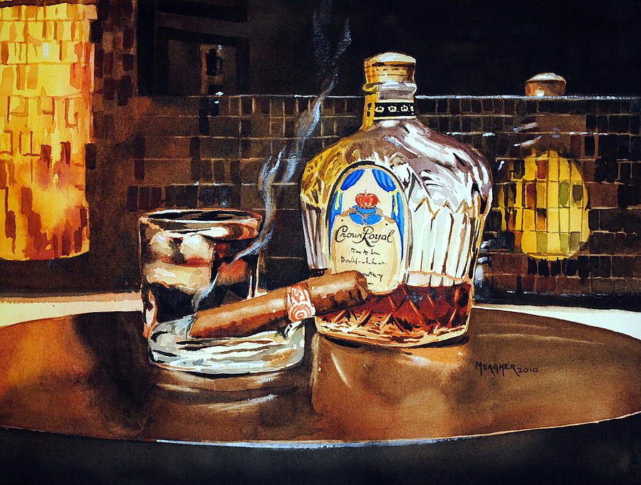 Cigar Painting - Mosaic Reflections by Spencer Meagher