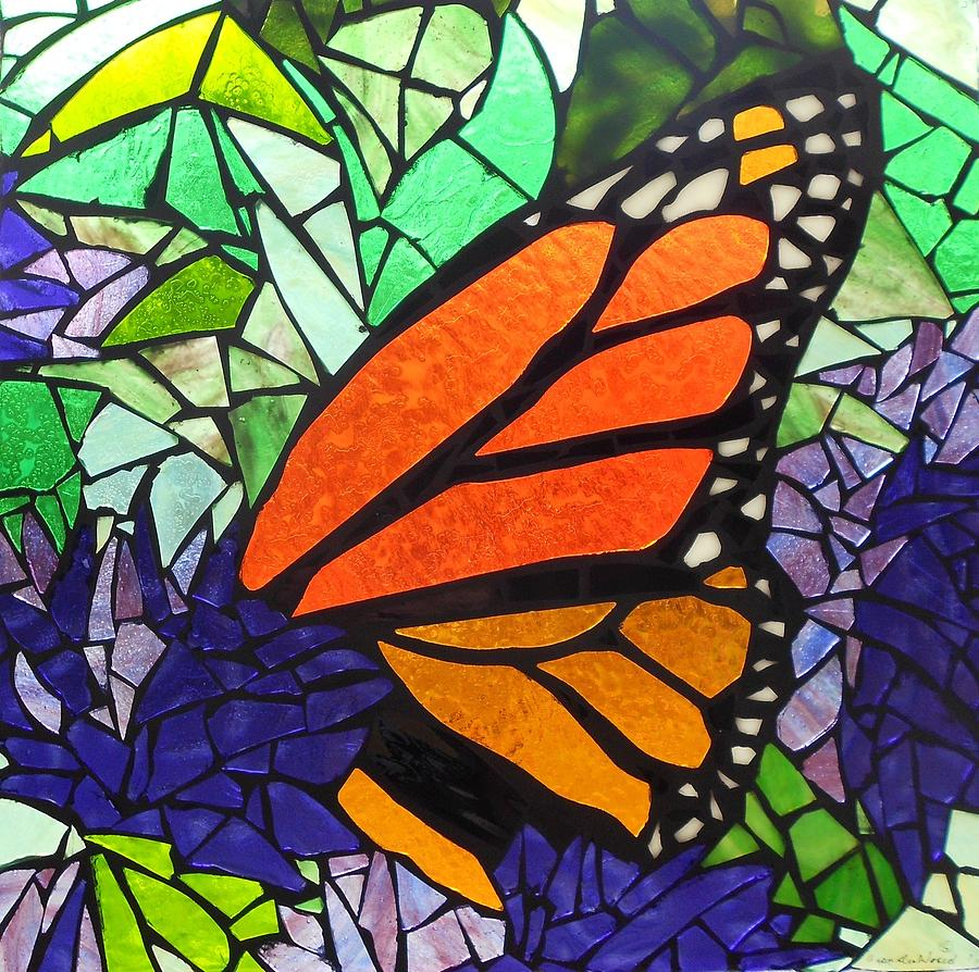 Mosaic stained glass last episode glass art by catherine for Butterfly stained glass craft