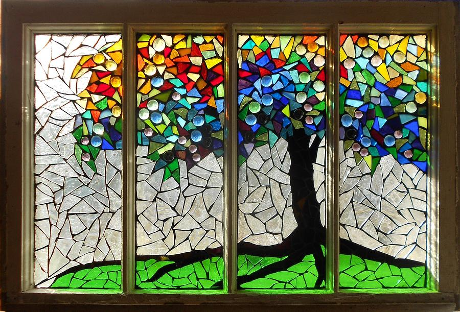 Mosaic Stained Glass Roots Glass Art By Catherine Van