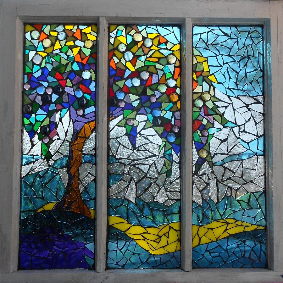 mosaic stained glass summers colors catherine van der woerd
