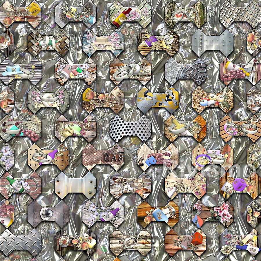 Mosaico Painting - Mosaico Experiencial Hueso by Ramon Rivas - Rivismo