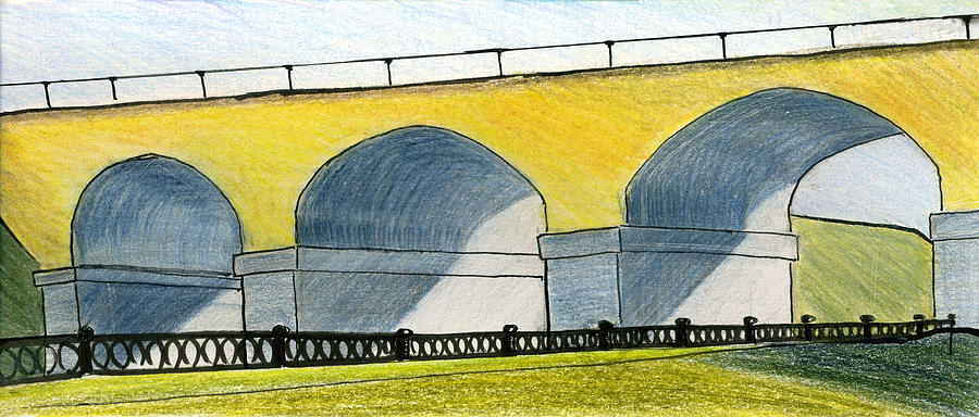 Moscow Drawing - Moscow. Andronikov Viaduct by Lelia Sorokina
